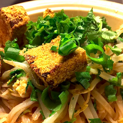 Crispy Baked tofu is a great addition to a Pad Thai or a noodle bowl or even a green salad