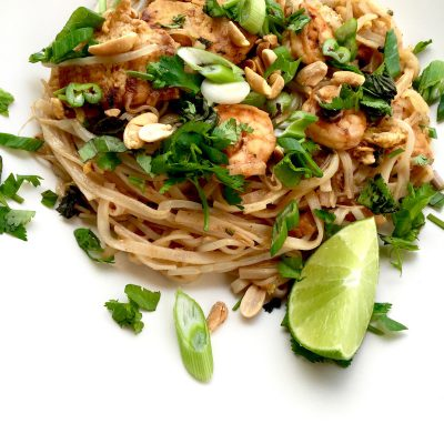 Our classic Pad Thai with Shrimp is the platonic ideal of Pad Thai