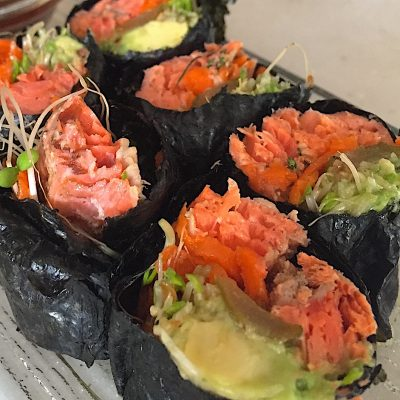 Nori Rolls with Smoked Salmon