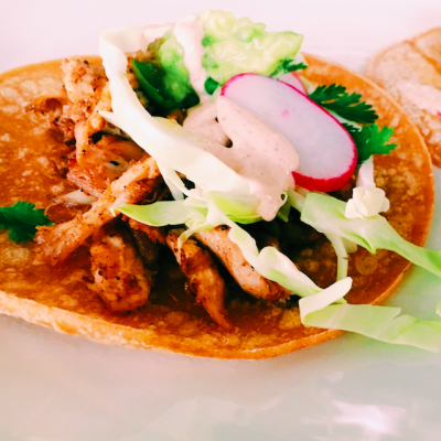 Shredded chicken tacos with rotisserie chicken, simple, tasty