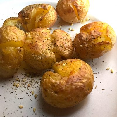 Crispy Smashed Potatoes, rich, buttery-tasting and easy to make