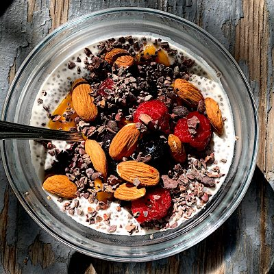Coconut Berry Chia Seed Pudding