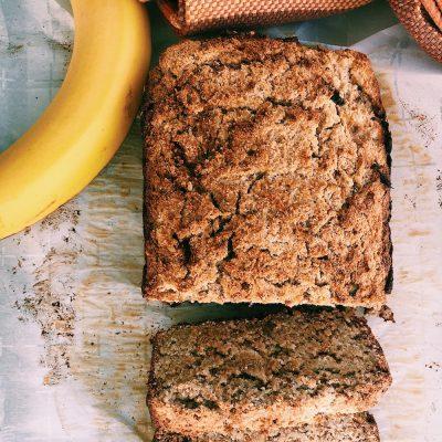 Delectable, moist, tender, no fuss, one-bowl banana bread