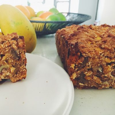 dense, moist mango bread