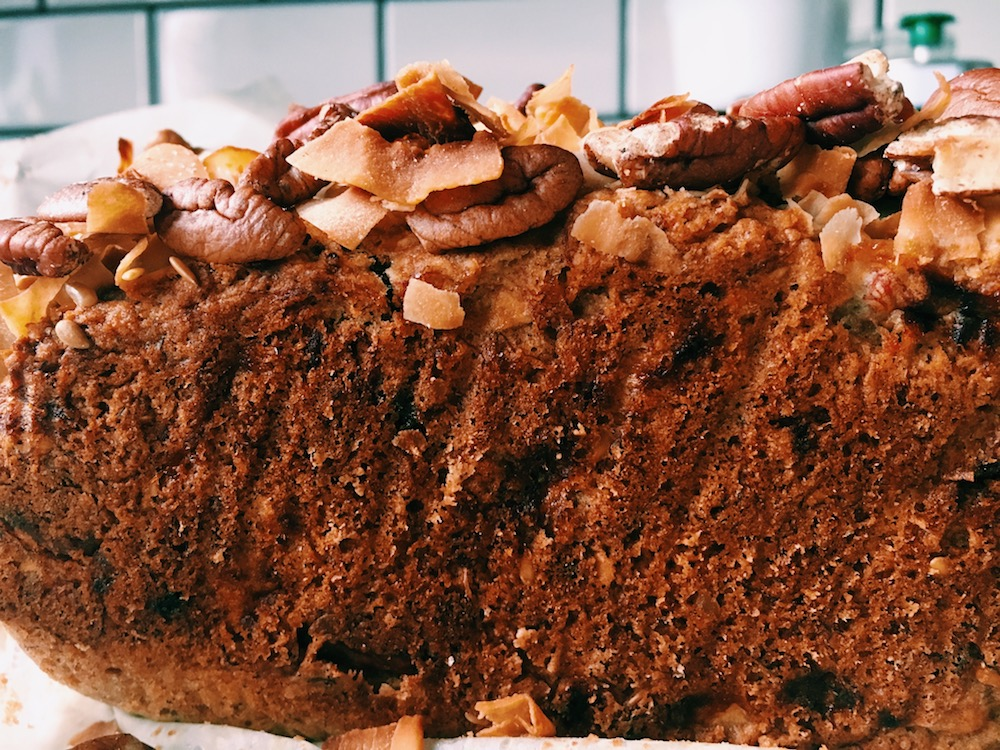 Best Banana Bread Ever: Vegan Banana Bread with Flaxseeds, Coconut, and Pecans
