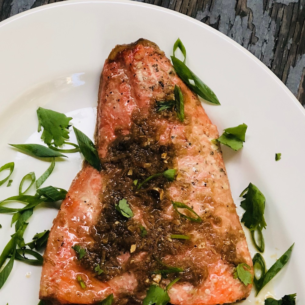 Omega-3 rich Wild-caught salmon is a wonderfully versatile fish, just try this Ginger Soy Citrus Baked Salmon