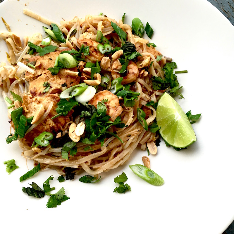 Classic Pad Thai with shrimp
