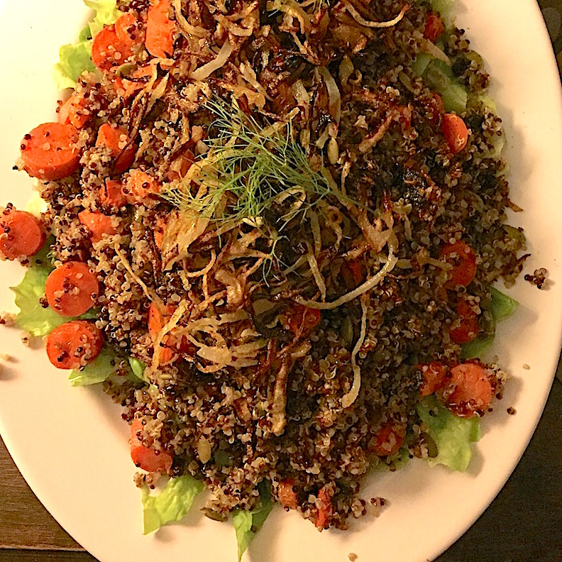 Quinoa Salad with Roasted Carrots