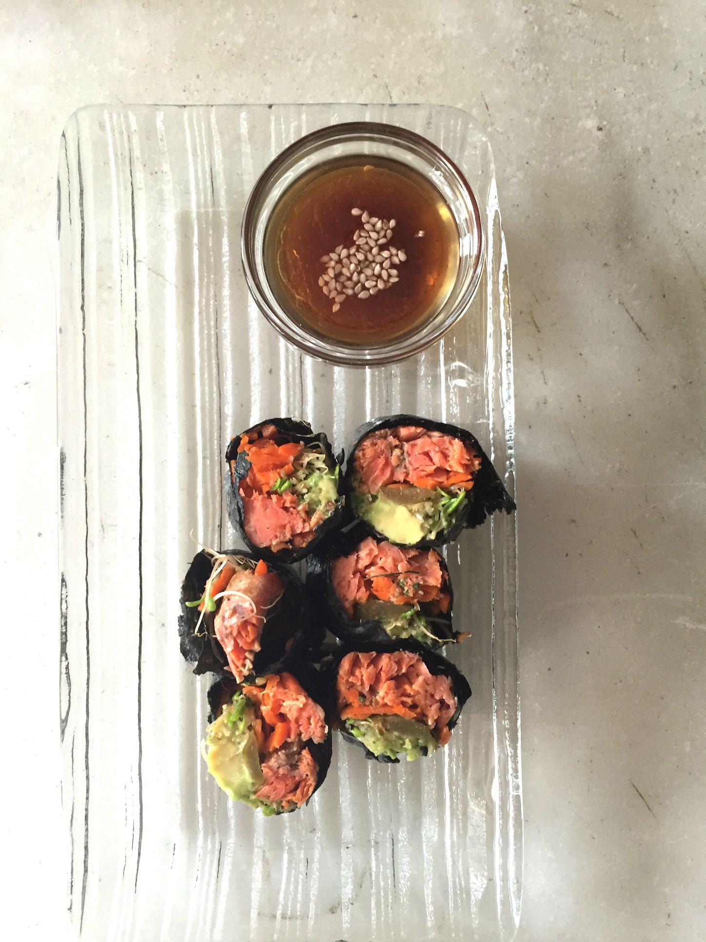 Nori Rolls with Smoked Salmon