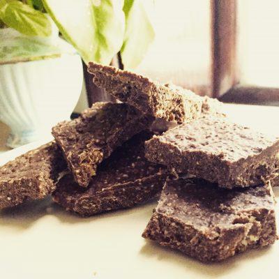 Raw Cacao Energy Bars: energizing treat that's gluten-free, sugar-free, vegan