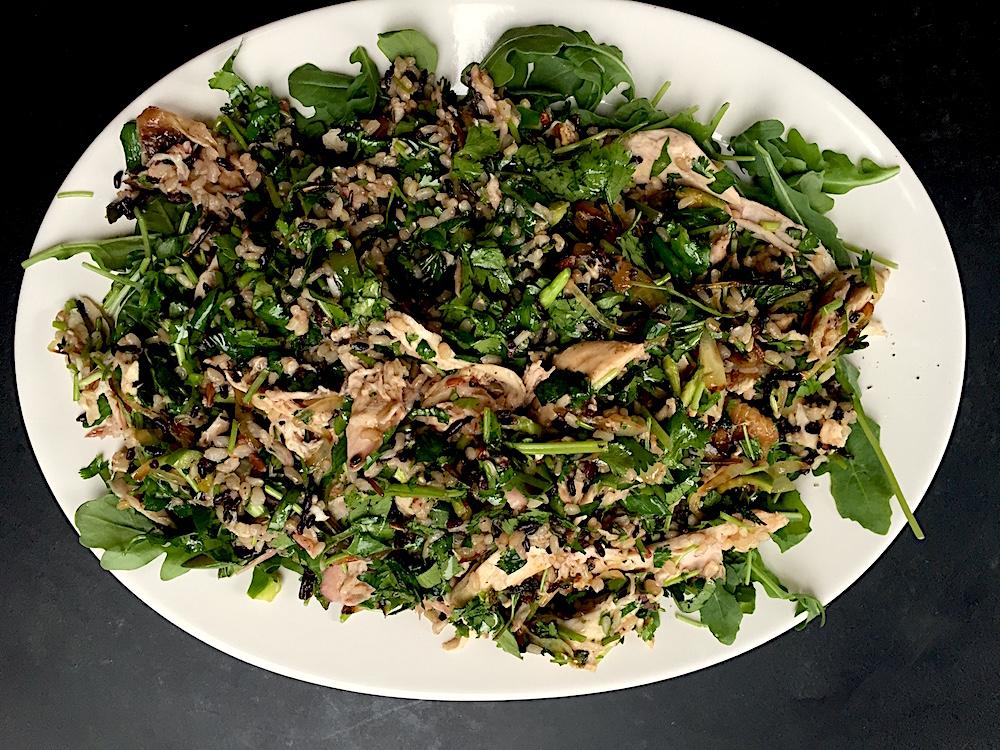 Fresh Herb Three-Rice Chicken Salad