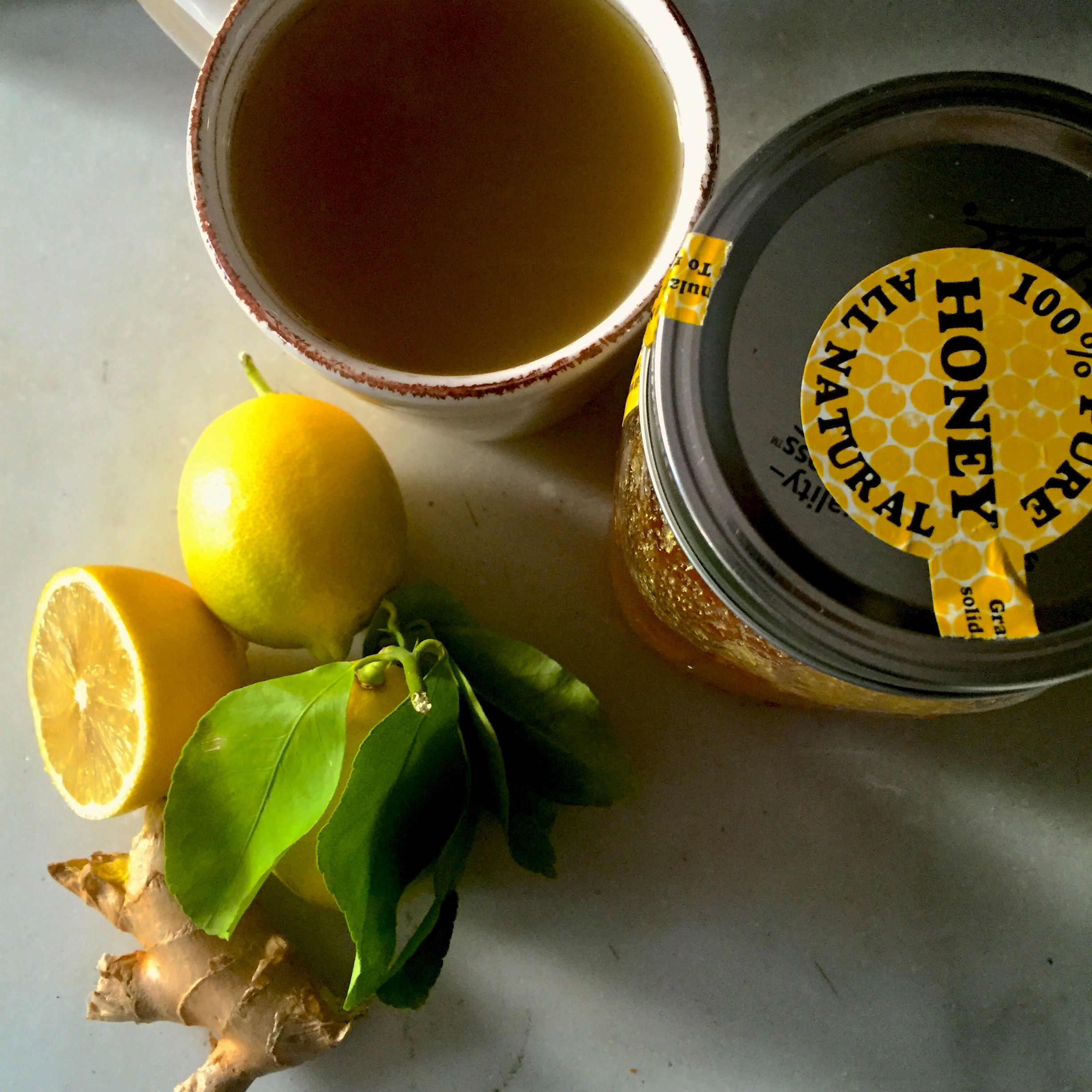 Ginger, Honey, Lemon Infusion: a Superfood Cold Remedy soothes