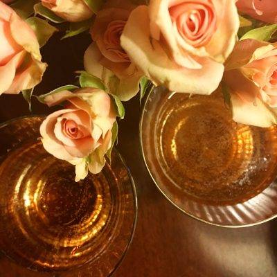 carpe diet, roses and pink champagne