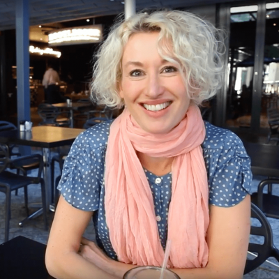 Tania Van Pelt in Cape Town on a book tour, giving a talk about hormone imbalance