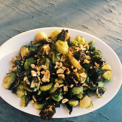 Roasted Brussels Sprouts with Peanuts is a simple recipe, easy to prepare, and it's a delicious, crowd-pleasing side dish.