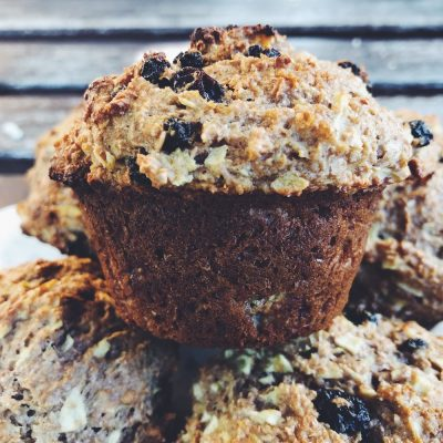 Got apples? Make these apple bran muffins. Sweetened with a little coconut palm sugar, raw honey, and fresh apples.