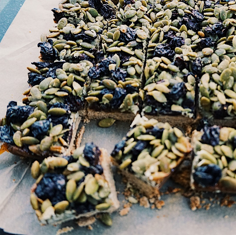 Pumpkin Seed Cherry Bars